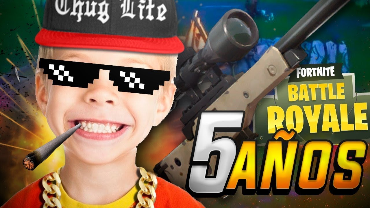 Jugando Fornite Battle Royale Con Un Nino De 5 Anos Youtube