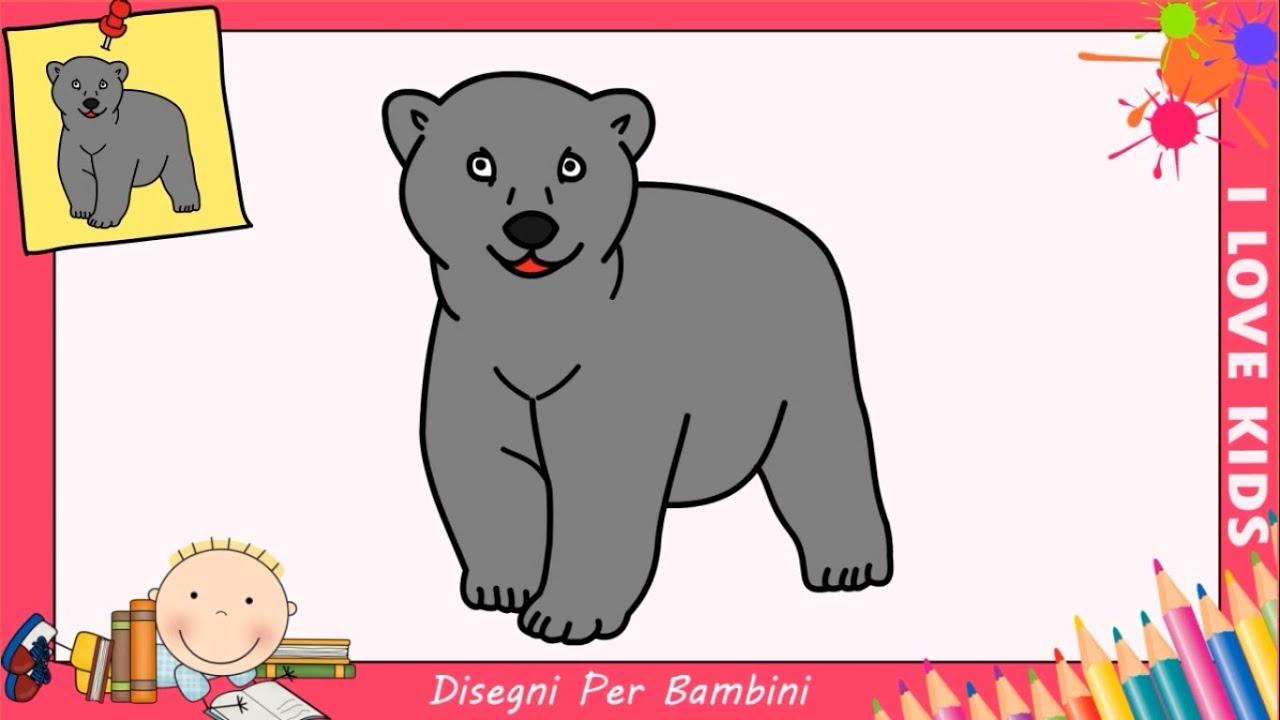Disegni di orsi facili per bambini come disegnare un for Disegni di natale facili per bambini