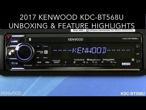 Kenwood Kdc Bt568u Audio Receiver Unboxing Amp Feature