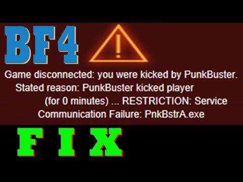 Battlefield 4 PnkBstrA.exe error, Punkbuster fix.