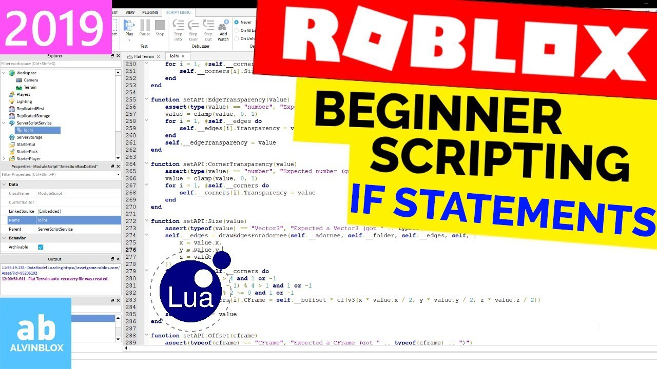 Roblox Lua Else If If Statements Beginner Roblox Scripting 11 If Then Else Youtube