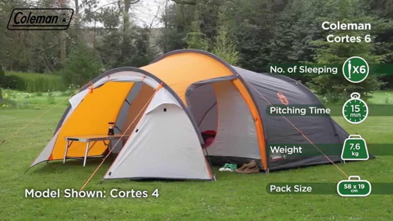 Coleman 174 Cortes 6 Six Person Active Hiking Tent En