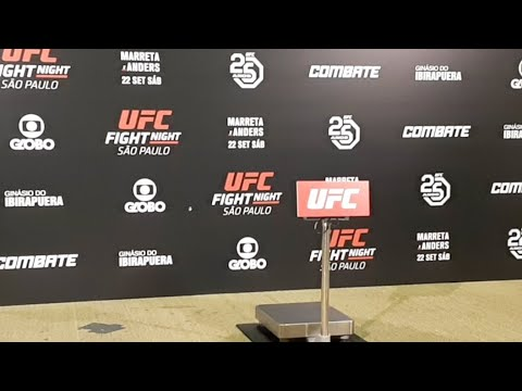 UFC Sao Paulo Official Weigh-in Live Stream