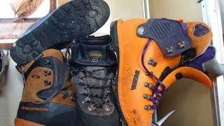 Как выбрать ботинки для горного похода и альпинизма?(Стоит ли покупать ботинки с рантами? Что лучше пластиковые или кожаные ботинки? Чем отличаются плохие ботин..., 2013-02-26T17:37:14.000Z)