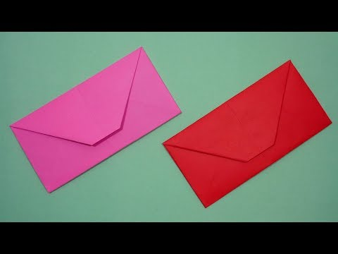 How To Make An Envelope Out Of Paper Without Glue or Tape   DIY Easy [Origami Envelope] At Home