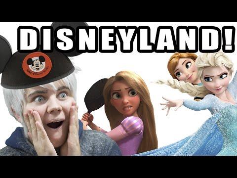 Jack Frost, Elsa, Anna & Rapunzel go to Disneyland (1-10-17)