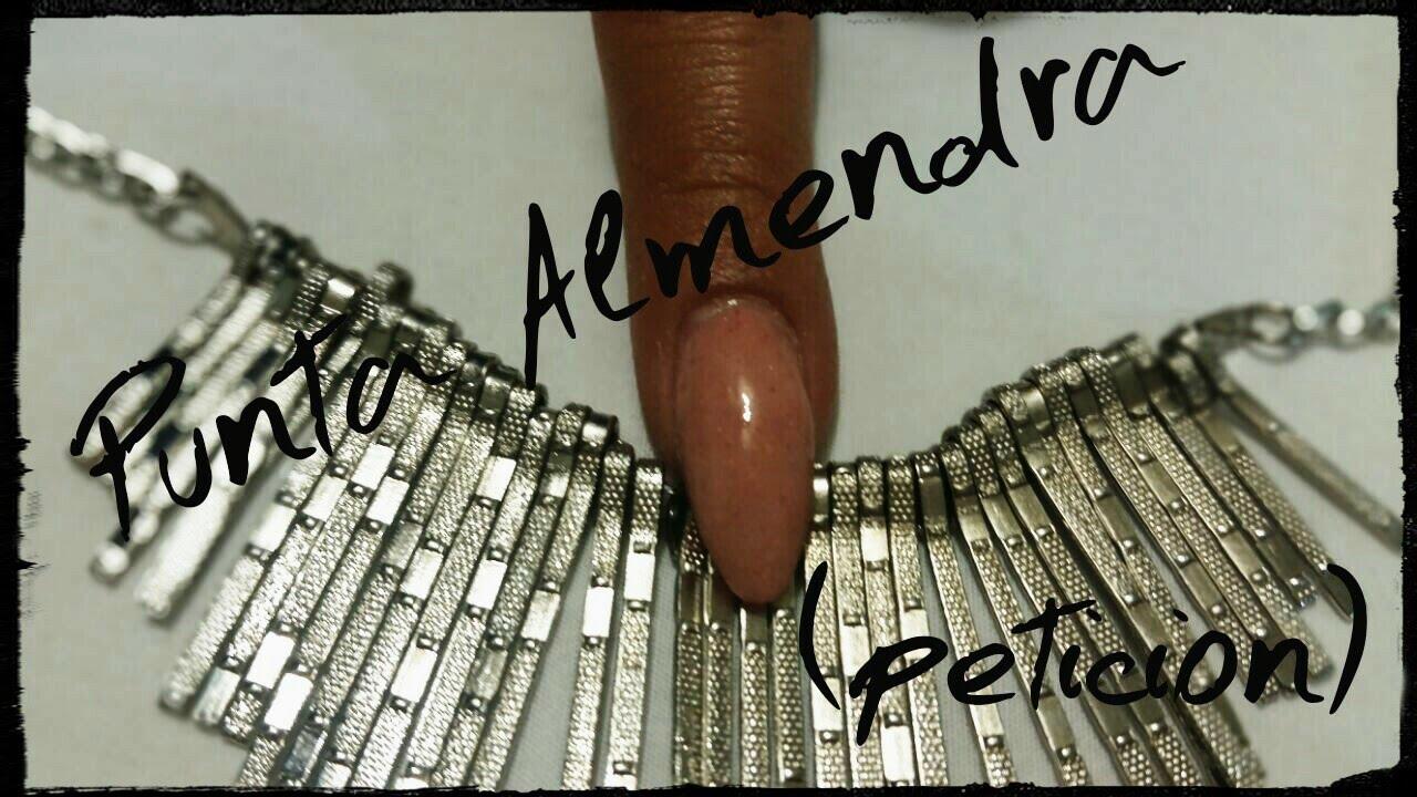 Como hacer punta almendra. (peticion) - YouTube