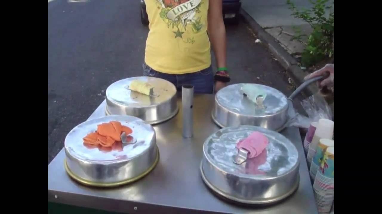 Outdoor mobile hand push ice cream bike coffee cart for