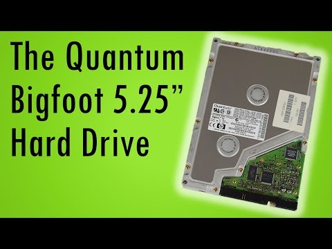 "Remember the Quantum Bigfoot? Retro 5.25"" Hard Drive review with audio recordings"