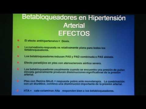 Betabloqueadores en el tratamiento de la hipertensión..