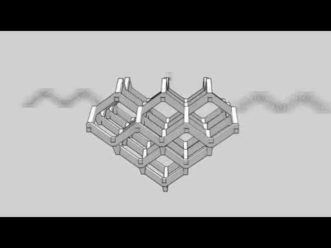 Acrylic Diamond Lattice Assembly