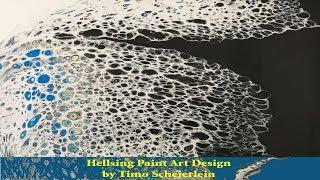 (178) Acrylic pouring noch eine Wischtechnik