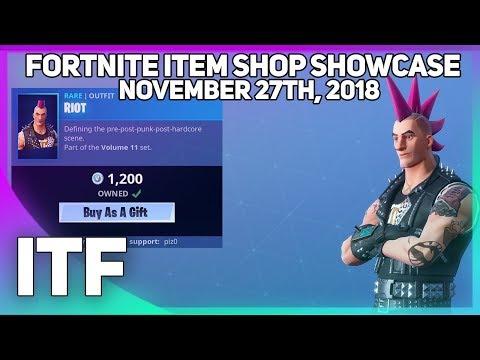 Fortnite Item Shop *NEW* RIOT SKIN! [November 27th, 2018] (Fortnite Battle Royale) thumbnail