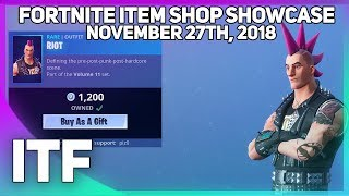Fortnite Item Shop *NEW* RIOT SKIN! [November 27th, 2018] (Fortnite Battle Royale)