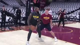 Lebron james pregame warmup he couldn't miss | Celtics vs cavaliers