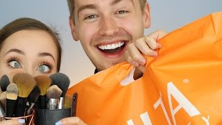 One of Allie Glines's most viewed videos: HUSBAND BUYS MY MAKEUP (AND SLAYS) | ALLIE G BEAUTY