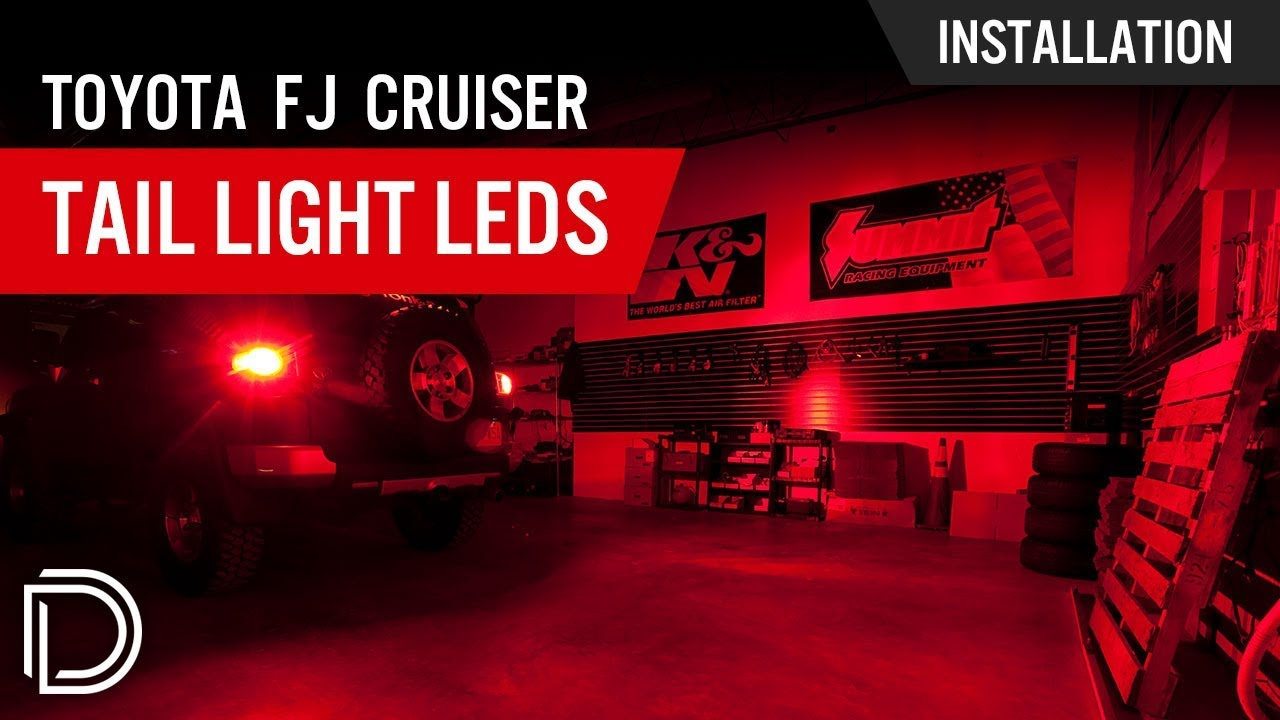 How To Install Toyota Fj Cruiser Tail Light Leds Youtube