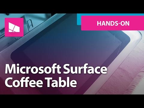 Microsoft surface 2 0 funnydog tv Microsoft coffee table