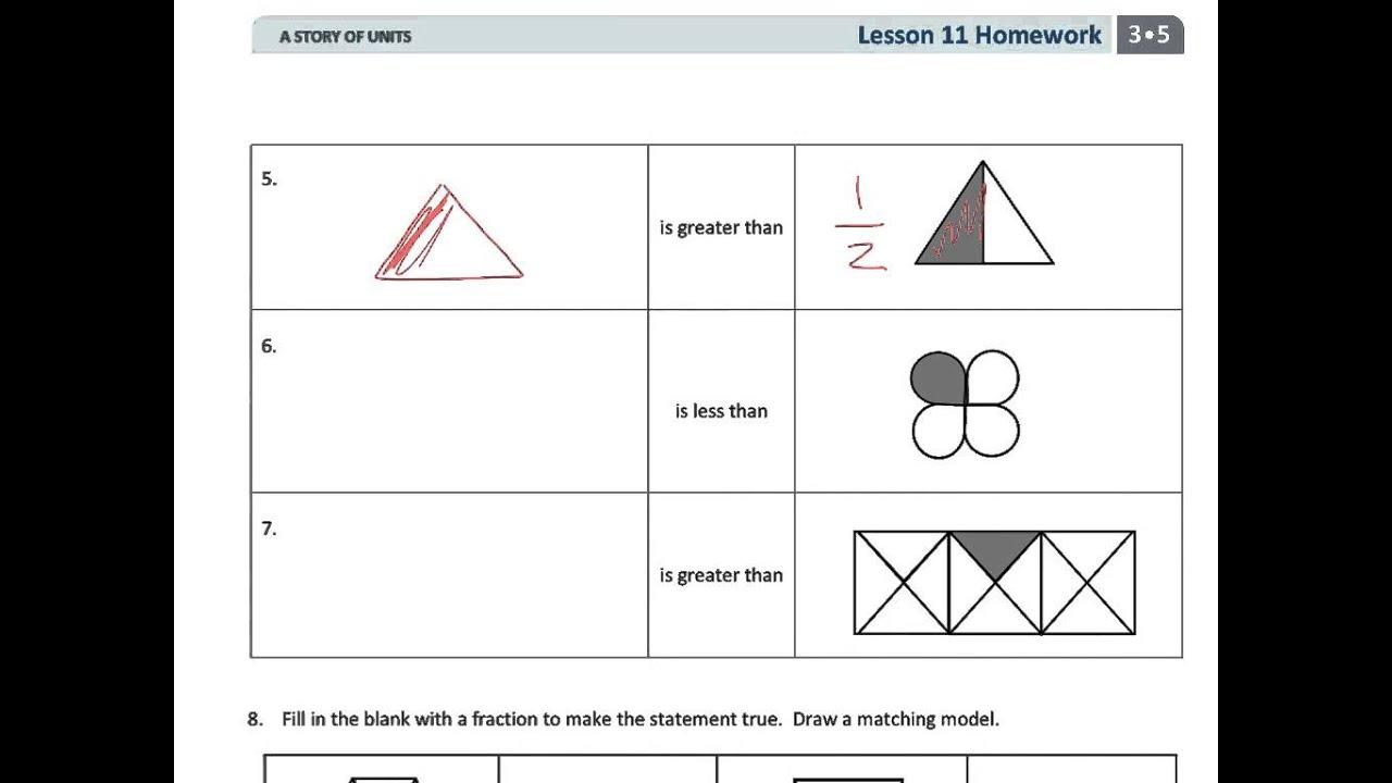 Grade 3 Module 5 Lesson 11 Homework - YouTube