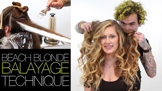 How To: Beach Blonde Balayage Step by Step Featuring Brian Haire