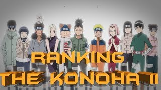 Ranking The Konoha 11 From Weakest to Strongest