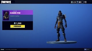 NEW CLOAKED STAR SKIN IN FORTNITE ITEM SHOP