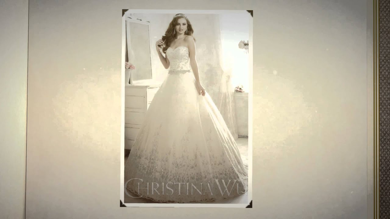 Christina Wu Wedding Dresses from A J Bridal Wear - YouTube