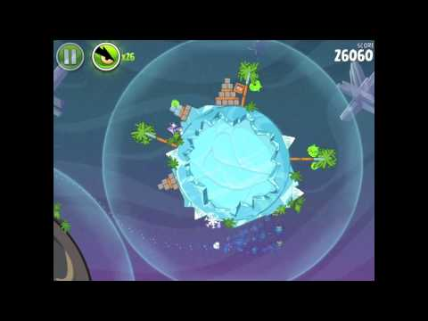 Angry Birds Space Cold Cuts 2-8 Walkthrough 3-star
