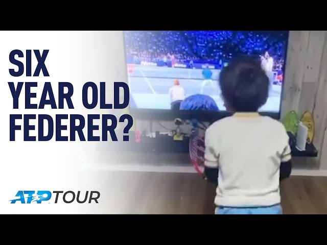 Six-Year-Old Imitates Roger Federer | ATP