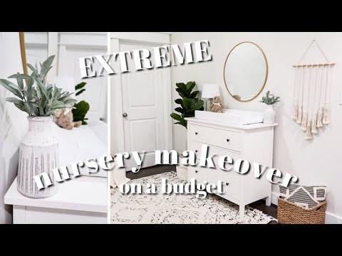 EXTREME NURSERY MAKEOVER on a budget!   Gender Neutral Nursery   Decorating Ideas   DIY Nursery