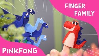 T-Rex Finger Family | Finger Puppets | Pinkfong Plush | Pinkfong Songs for Children