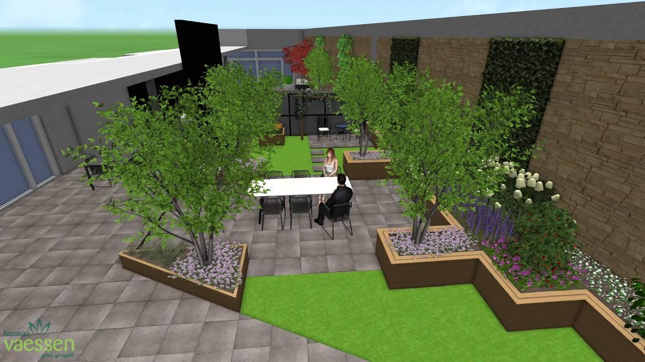 3d tuinontwerp dakterras youtube for 3d tuin ontwerpen