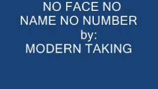 No Face No Name No Number-Modern Talking with lyrics