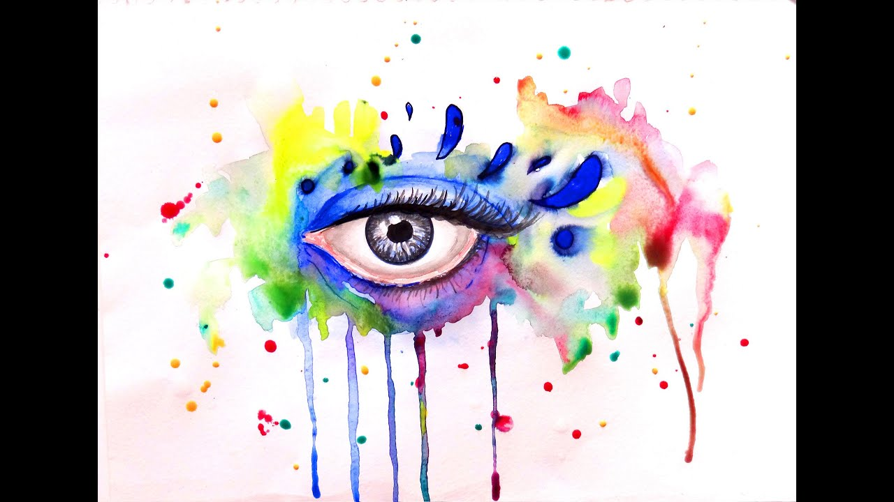 watercolor painting colorful eye watercolor techniques