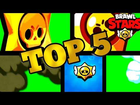 Top 5 green screen transition   Brawl Stars