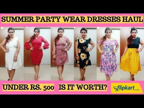 SUMMER DRESSES UNDER Rs. 1000 | FLIPKART DRESS HAUL | AFFORDABLE DRESSES HAUL | AMAZON | MYNTRA