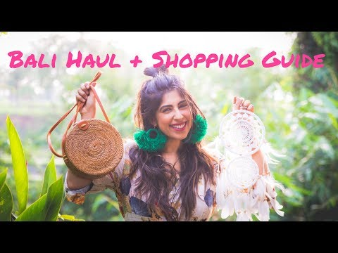 SHOPPING IN UBUD - The Ultimate Guide + Bali Haul (with prices !!) | Bruised Passports