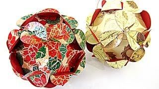 Cómo hacer adornos (esfera) de Navidad. Christmas ornament sphere