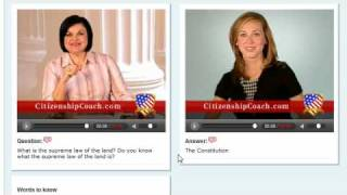Citizenship Test - two experts teach you each question