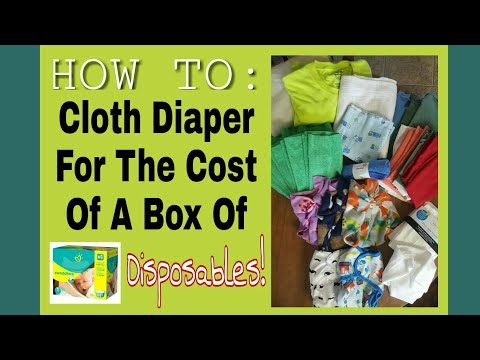 Cloth Diaper For The Cost of A Box of Disposables!