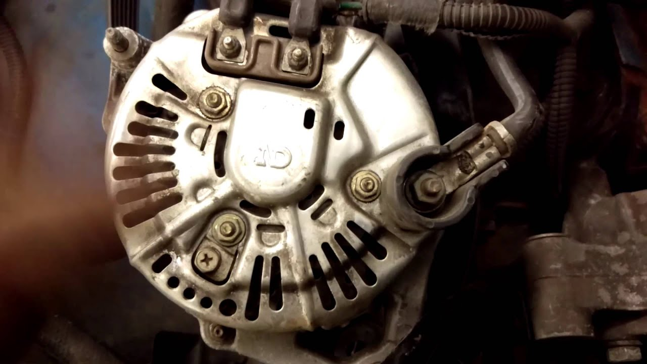 dodge durango v8 5 2 alternator back side view youtube 1986 dodge dakota alternator installation dodge durango v8 5 2 alternator back side view