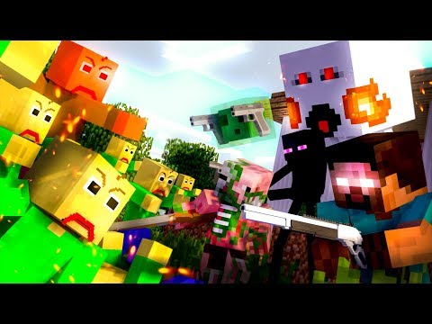Monster School : ZOMBIE APOCALYPSE BALDI CHALLENGE - Minecraft Animation