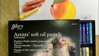 Gallery Soft Oil Pastels Review !! Mango Drawing with oil pastel screenshot 1