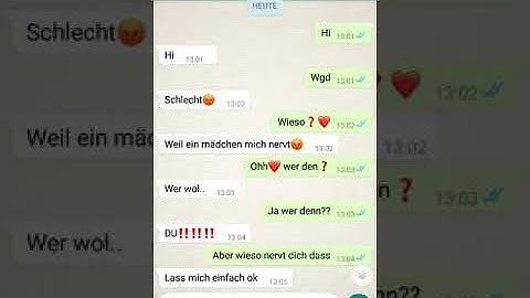 WhatsApp Chat ohne Happy End 😩😩