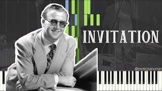 George Shearing - Invitation (Solo Jazz Piano Synthesia) [Jazz Standard]