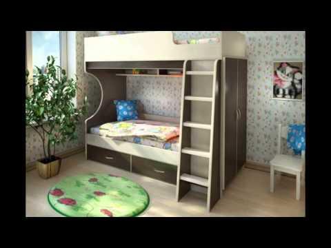 Двухъярусная  детская кровать. Двохярусне дитяче ліжко.