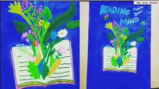 How to make imagination blooming chart for school project/decorate cover page idea byThe Arts Center