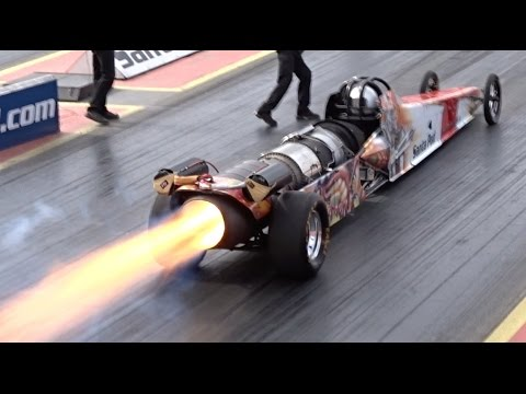FireForce 5 Jet Car at Santa Pod Raceway - 1/4 Mile 5.07 @ 2