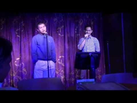 Disney Cruise Family Karaoke Night - Keith and Benji Sing!