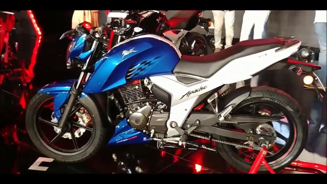 Tvs Apache 160 4v 2018 New Model Metallic Blue Youtube - apache 160 4v new model 2018 price